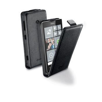 Pouzdro CellularLine Flap Essential pro Nokia Lumia 520/525, PU kůže, černé