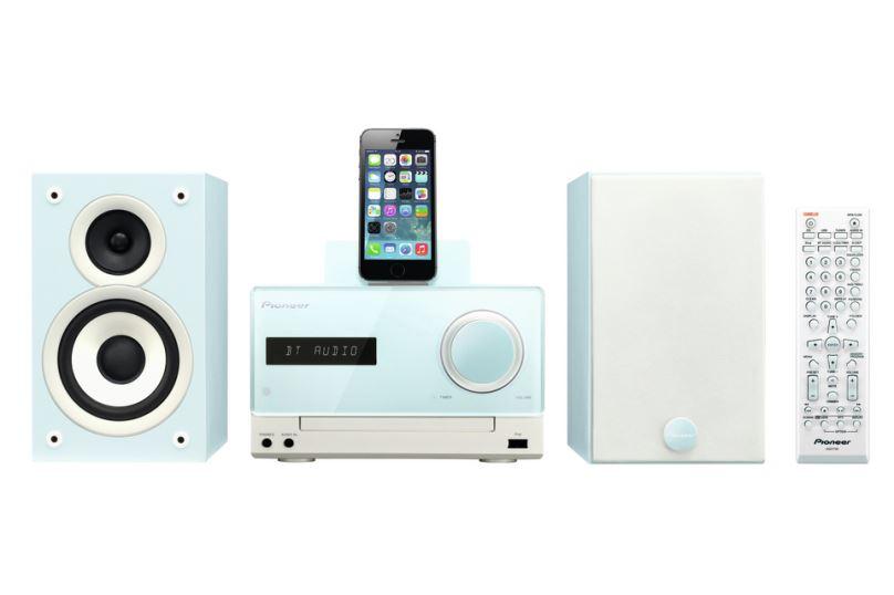 Pioneer systém s CD,USB,BT a dockem, modrý