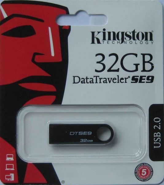 Kingston flashdisk USB SE9 32GB, černá