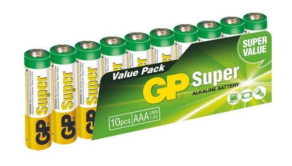 GP Super Alkaline 10ks AAA