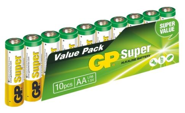 GP Super Alkaline 10ks AA