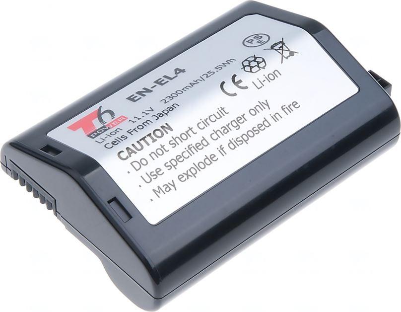 Baterie T6 power Nikon EN-EL4, 2300mAh, černá