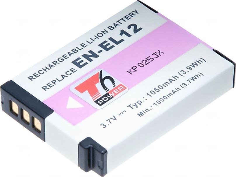 Baterie T6 power Nikon EN-EL12, 1050mAh, černá