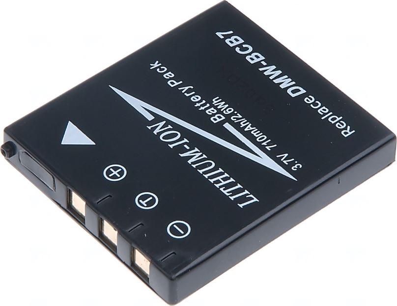 Baterie T6 power Panasonic DMW-BCB7, CGA-S004, 710mAh, černá