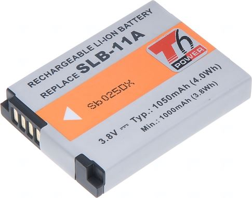 Baterie T6 power Samsung SLB-11A, 1050mAh, černá