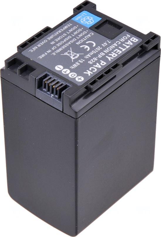 Baterie T6 power Canon BP-828, 2670mAh, černá