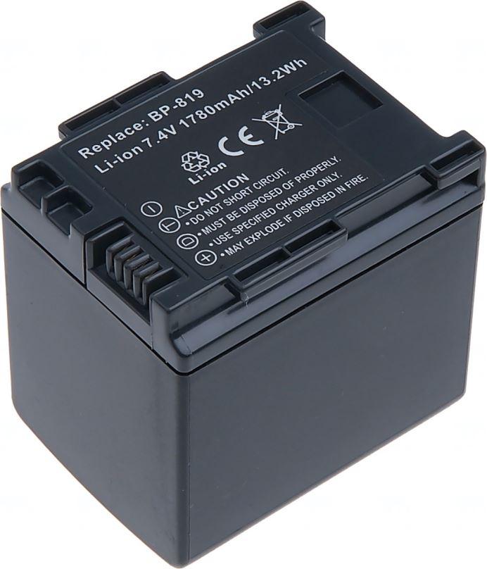 Baterie T6 power Canon BP-819, 1600mAh, černá