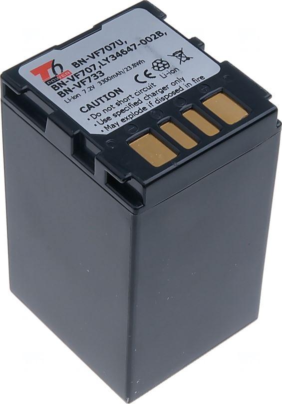Baterie T6 power JVC BN-VF707U, BN-VF707, BN-VF733, 3300mAh, šedá