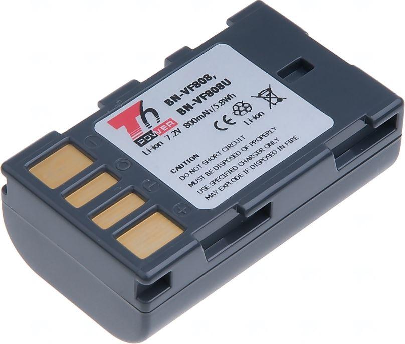 Baterie T6 power JVC BN-VF808, 800mAh, šedá
