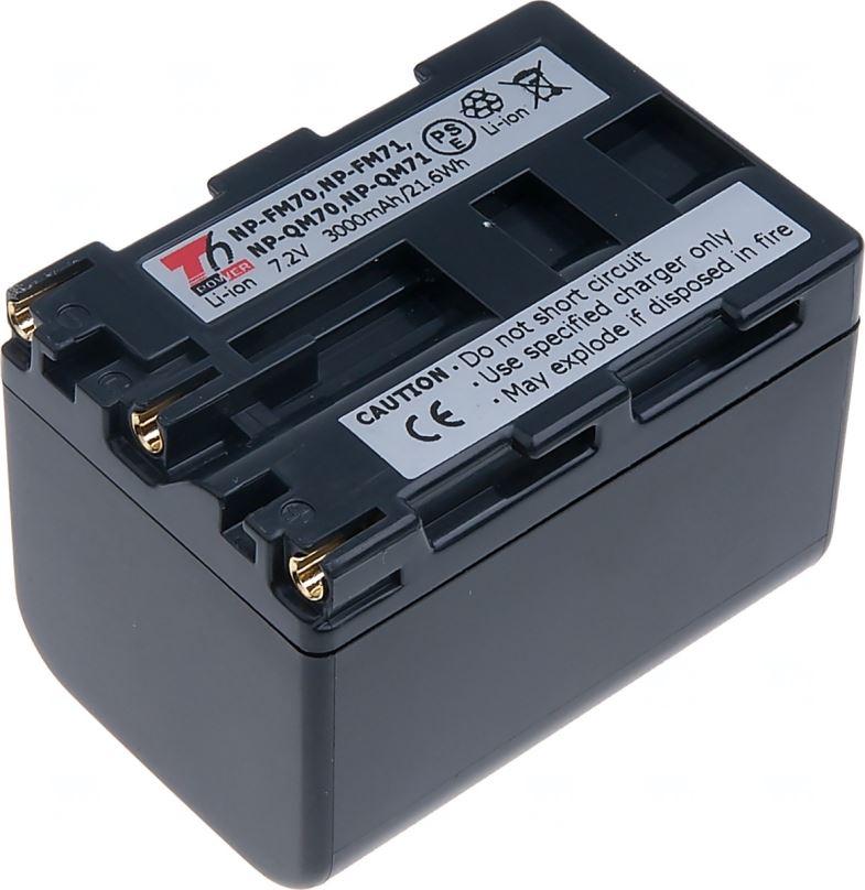 Baterie T6 power Sony NP-FM70, NP-FM71, NP-QM70, NP-QM71, 3000mAh, šedá