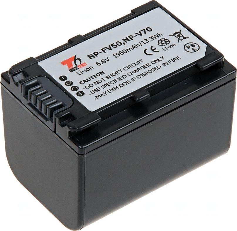 Baterie T6 power Sony NP-FV70, 1960mAh, šedá
