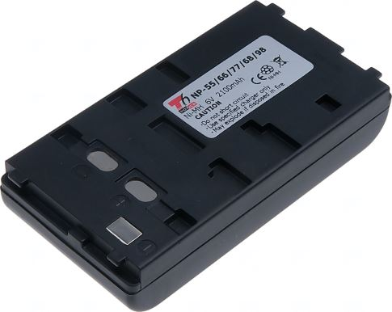 Baterie T6 power Sony NP-55, Ni-MH, 2100mAh, černá
