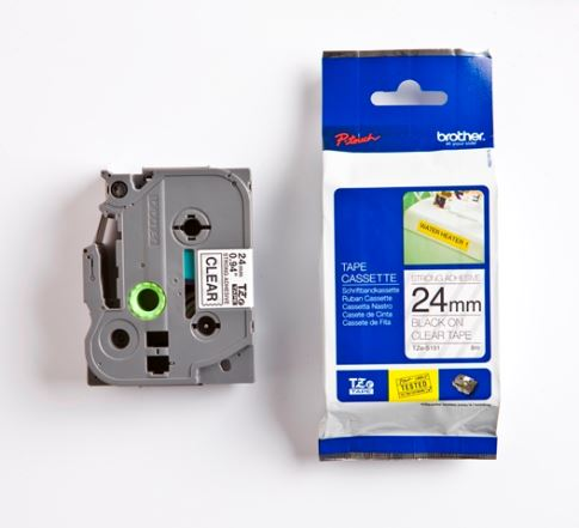 TZE-S151,průsvitná / černá, 24mm