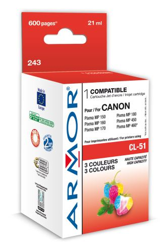 Armor ink-jet pro Canon IP2200, 21ml, (CL-51)