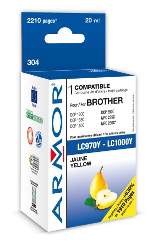 Armor ink-jet pro Brother MF C235, (LC970/1000Y)
