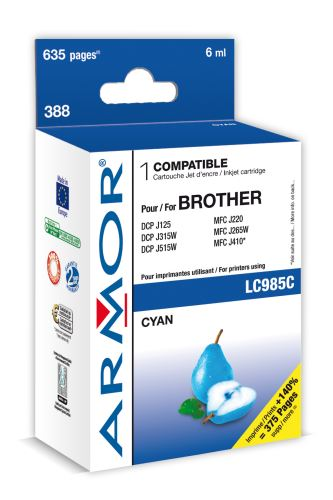 Armor ink-jet pro Brother DCP J125,6ml(LC985C)C