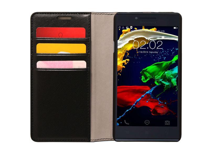 Pouzdro pro Lenovo Smartphone P70 Flip Case Black