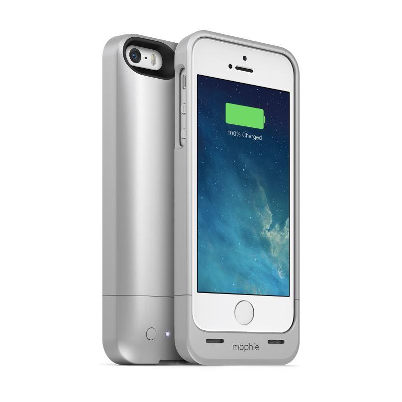 mophieJuice Pack Helium - pouzdro s baterií pro iPhone SE/5S/5, stříbrné