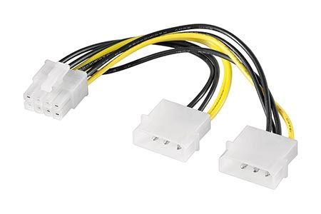 Napájecí redukce 2x 5.25 -> PCI EXPRESS (8pinů)
