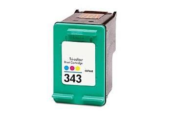 PRINTWELL C8766EE (No. 343) kompatibilní inkoustová kazeta, barva náplně azurová/purpurová/žlutá, 445 stran