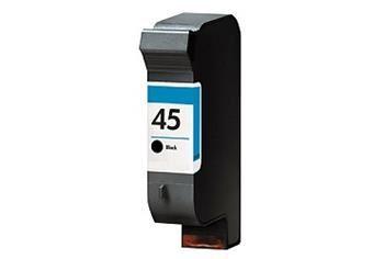 PRINTWELL 51645A (No.45) kompatibilní inkoustová kazeta, barva náplně černá, 930 stran