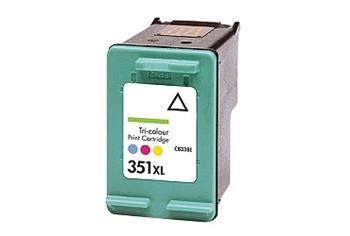 PRINTWELL CB338EE (No. 351XL) kompatibilní inkoustová kazeta, barva náplně azurová/purpurová/žlutá, 580 stran