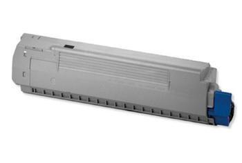 PRINTWELL 44059108 (OKI C810/830; BLACK) kompatibilní tonerová kazeta, barva náplně černá, 8000 stran