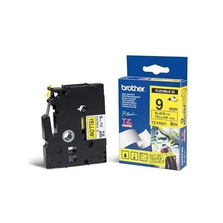 Brother - TZ-FX621,  žlutá / černá, 9 mm,  s flexibilní páskou