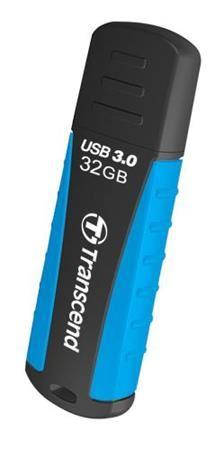 Transcend 32GB JetFlash 810, USB 3.0 flash disk, modro-černý, odolá nárazu, tlaku, prachu i vodě