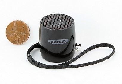 Digitus/Ednet MiniMax Bluetooth reproduktor, Bluetooth 3.0, 3W, Handsfree, 33x36mm Barva: černá