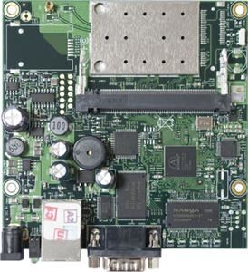 MikroTik RouterBOARD RB411AR, RouterOS L4, 1xLAN, 2,4GHz wireless card, 1xminiPCI