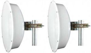 Jirous JRC-24EX MIMO • Parabolická dvoupolarizační anténa 24dBi (2pack) SMA