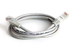 EuroLan Comfort patch kabel FTP, Cat5e, AWG24, ROHS, 1m, šedý