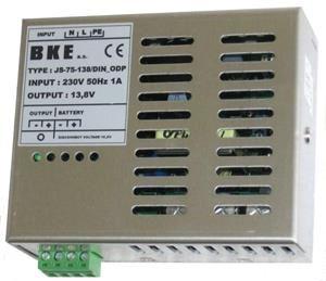 BKE Napájecí zdroj/nabíječ na DIN lištu JS-75-138/DIN/CH_ODP 13,8V, 75W, 4A