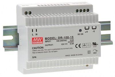 MEAN WELL DR-100-12 Spínaný zdroj na DIN lištu 100W 12V