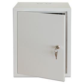 Rozvodná skříň 400x400x200 B s montážní plotnou, plechové dveře, uzamykatelná bez ventilace