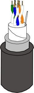 Kabel Lexi-Net, venkovní 5e UTP dvouplášťový PVC+PE - 305m cívka