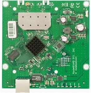 MikroTik RouterBOARD RB911-5Hn, 64MB RAM, 802.11a/n single, 5GHz, ROS L3, 1xLAN, 1x MMCX
