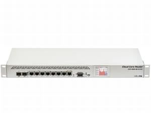 MikroTik Cloud Core Router, CCR1009-8G-1S-1S+, 8x GB LAN,2GB RAM, 1xSFP, 1xSFP+ cage, Level6, RM 1U, Dual PSU, LCD