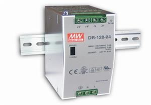MEAN WELL DR-120-24 Spínaný zdroj na DIN lištu  120W 24V