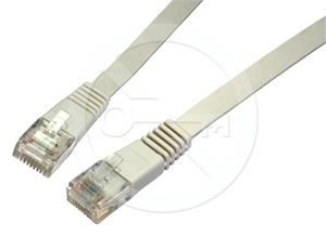 Solarix patch kabel plochý CAT5E UTP LSOH 0,5m šedý non-snag-proof C5E-111GY-0,5MB